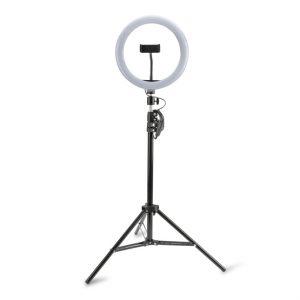 4smarts Tripod LoomiPod XL fehér LED fény és Selfie-tripod + Green Screen fekete - Kép