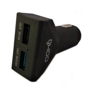 Ghoo autós gyorstöltő adapter 2USB