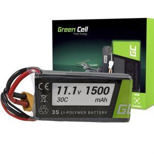 Green Cell akkumulátor RC készülékekhez 1500mAh 11.1V 60C (XT60-as csatlakozóval) - Kép