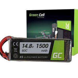 Green Cell akkumulátor RC készülékekhez 1500mAh 14.8V 60C (XT60-as csatlakozóval) - Kép
