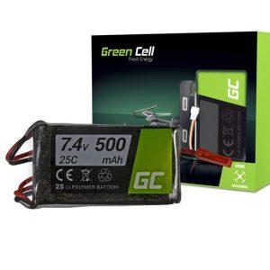 Green Cell akkumulátor RC készülékekhez 500mAh 7.4V 25C (XT60-as csatlakozóval) - Kép