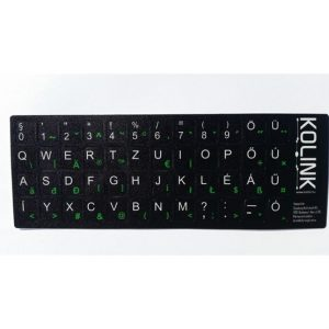Kolink billentyűzet matrica fekete alapon fehér betűk magyar /5999094000155/ - Kép