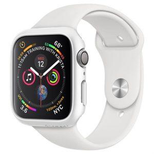 Spigen Thin Fit Apple Watch S4/S5/S6/SE 40mm Fehér tok - Kép