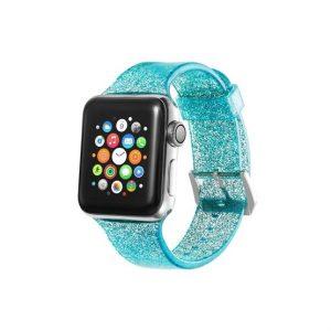 Xprotector csillámos szíj Apple Watch 42/44mm türkizkék - Kép